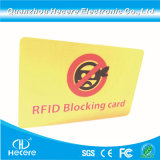 PVC Anti-Theft RFID Blocking / Blocker Card for Credit Card Protection