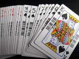 310gms Black Core Paper Casino Poker Playing Cards