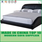 Foshan Home Furniture Leather Wooden Double Bed