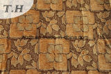2016 Elegant Brown Leaves Chenille Jacquard cloth