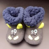 Newest Customized Embroidery Knitted Lining Winter Warm Baby Booties Shoes
