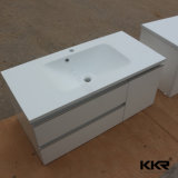 Popular Solid Surface Bathroom Vanity Cabinet Hotel Use Wash Hand Basin (180911)
