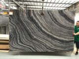Natural Silver Wave Black/White/Beige/Grey/Pink/Viote Marble High Quality Black Slabs for Commercial Interior Floor Covering
