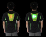 USB Rechargeable LED Bag Cycling Safety Vest Turn Signal Bike LED Backpack Widget with Direction Indicator Radio Control Turning Light