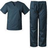 New Design Men′s Polyester Spandex Scrubs Stretch Salon Uniform SPA Tunics