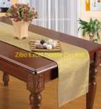 All Polyester Gold and Silver Thread Tablecloth