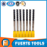 4 Flutes CNC Lathe End Mill Tools for Hard Metal Processing