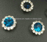 Hot Selling 12mm Crystal Rhinestone in Sewing on Strass with Claw Setting Rhinestone (TP-12mm sky blue crystal)