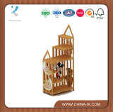 Custom Bamboo Material Gift and Accessories Display Rack