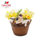Factory Direct Wholesale Resin Bird Flower Pot for Garden Decor