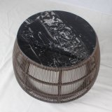 Aluminum Frame Round Rattan Chair Outdoor Furniture with High Backrest