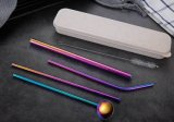 Party Suppliers Cheap Metal Stainless Steel Drinnking Straws with Wheat Straw Mini Box