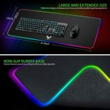 LED Soft Large Mousepad with RGB Ajdustable Lighting for OEM