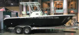 Fiberglass Center Console Fishing Boat with Hard Top