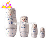 Customize Wood Crafts Wooden Russian Nesting Dolls with High Quality W06D084