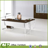Powder Coating Office Melamine Executive Desk with Front Panel