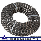 11.5mm Rubber Diamond Wire with Sintered Diamond Beads for Quarrying of Granite Marble Sandstone and Onyx
