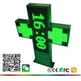 P16 Green Outdoor Double Sides RF Programmable 3D Animation Picture LED Pharmacy Cross Display
