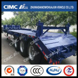 Cimc Huajun 3axle Lowbed Semi Trailer for Carrying Container