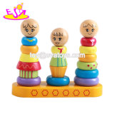 2018 New Design Educational Wooden Counting Stacking Rings for Baby W13D175