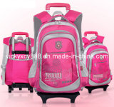 Trolley Wheeled Schoolbag Student Children Pack Bag (CY8905)