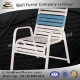 Well Furnir WF-17033 Vinyl Straps Pool Arm Chair