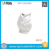 New White Abbott Owel Ceramic Vase Flower