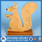 Wooden Toy of Squirrel Table Decoration for Christmas in Natural Color