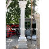 White Marble Stone Sculpture Column (SY-C003)