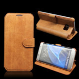 Classic Style Genuine Leather for Samsung S7 Mobile Phone Case/Cove