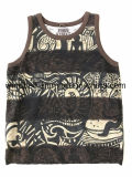 Summer Slub Cotton Vest for Boy with All-Over Printing