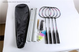 Professional Iron Badminton Set 4 Rackets 3 Balls with Bag