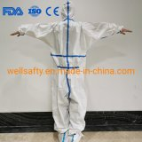 Cheap Non Sterile Protective Clothing AAMI Level 3 4 Isolation Coverall PP PE SMS CPE Workwear Suits Safety Gown in Stock with FDA Ce ISO