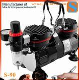 High-Power Portable Industrial Airbrush Oil Free Piston Air Compressor Pump High Pressure 1/3HP
