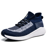 New Style Breathable Men Fashion Fly Knitted Sneakers Casual Sports Running Shoes (RN21-192)