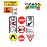 Wholesale Price High Visibility Warning Safety Sign Aluminum Traffic Control Road Sign Board