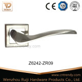 Sn Zinc Alloy Door Lock Handle on Square Rosette (z6242-zr09)