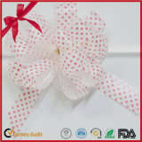 Pink Polka DOT POM-POM Pull Bow for Christmas Decoration