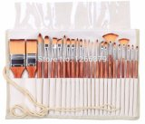 High Quality Synthetic Hair Wooden Handle Art Brush Set