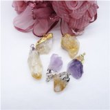 Natural Ore Crystal Stone Irregular Semi-Precious Necklace Charms Pendants