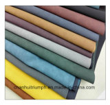 Artificial Nubuck Backing PU Leather for Sofa