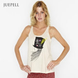 Fashion Girl Print Cotton out Door Sport Tank Top