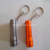 Custom Aluminum 1 LED Flashlight with Keychain for Promotion Gift