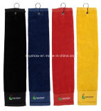 100% Cotton Custom Golf Towel with Hook (SST1001)