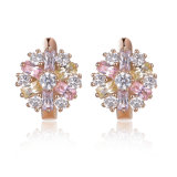 Wholesale High Quallity Fashion Pink Flower Stud Earring Jewelry