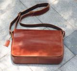 Genuine Leather Shoulder Men Messenger Computer Bag
