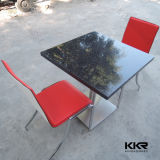 Black Artificial Stone Restaurant Dining Table