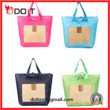 4 Colors Customized Big Size Foldable Tote Travel Bag