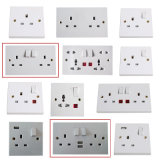 UK 2gang Sp Electrical Plug Socket Light Wall Switch
