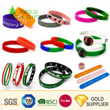 Cheap Wholesale Custom Personalized NBA Logo Dropship Rubber Wrist Band Two Color Qr Code Bead Silicon Wristband Individual Letters Thin Silicone Slap Bracelet